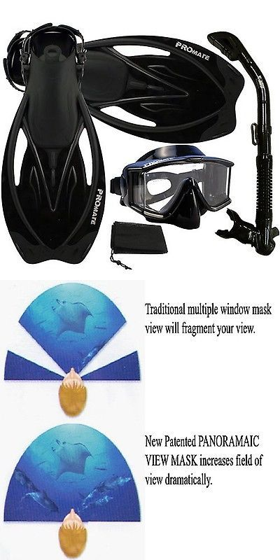 Snorkels and Sets 71162: Promate Snorkeling Scuba Dive Panoramic Purge Mask Dry Snorkel Fins Gear Set -> BUY IT NOW ONLY: $70.31 on eBay!