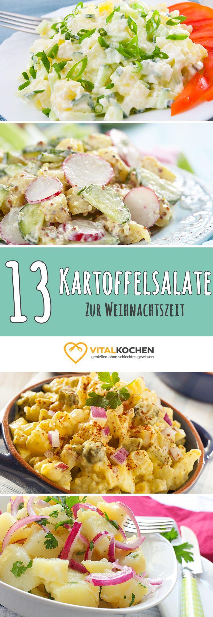 Kalorienarme und Abwechslungsreiche Kartoffelsalat Rezepte - Ideal für die Winter-/Weihnachtszeit. Einfach und schnell zubereitet auf vitalkochen.de
