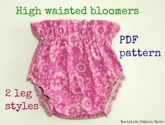 High waisted baby bloomer pattern Baby diaper cover by berrykidz