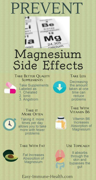 Prevent Magnesium Side Effects with a few simple strategies.   http://www.side-effects-site.com/magnesium-side-effects.html