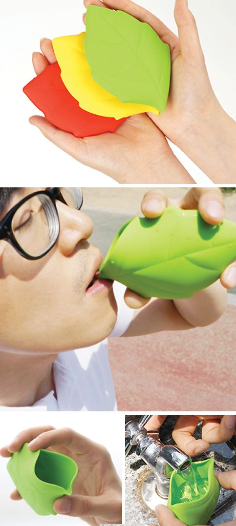Silicone portable leaf cup - great for camping