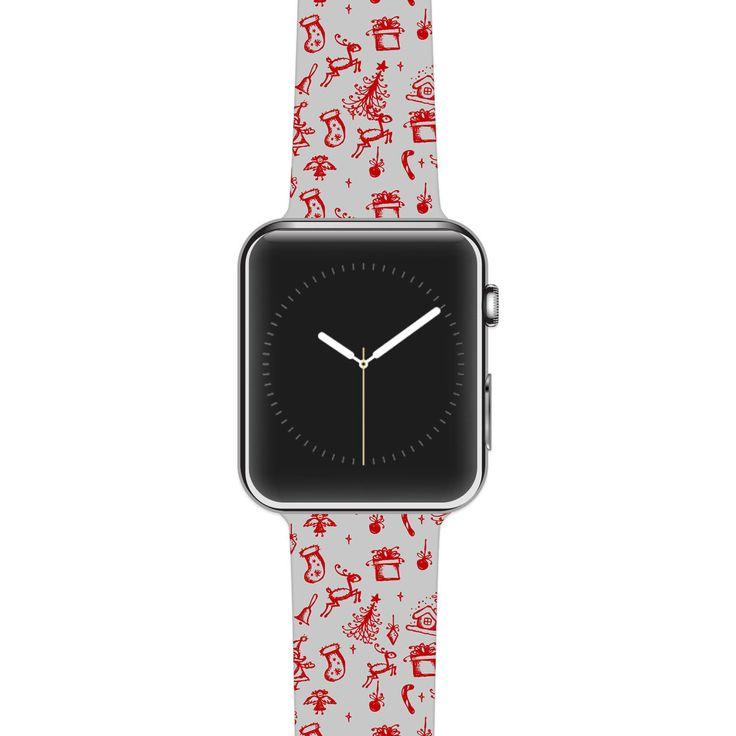 "Apple Watch Band Strap - Snap Studios ""Miniature Christmas Red"" - Kess inHouse by KessInHouse on Etsy https://www.etsy.com/listing/239127434/apple-watch-band-strap-snap-studios"