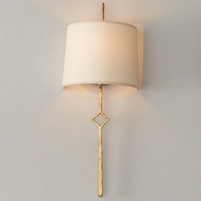 Minimalist Diamond Bar Shaded Sconce Gold Wall Sconce Modern Sconces Sconce Shades Wall sconces with shades