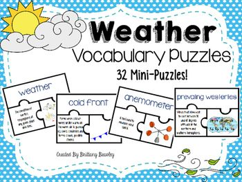 82 best weather 5th grade science images on pinterest teaching weather vocabulary puzzles sciox Choice Image