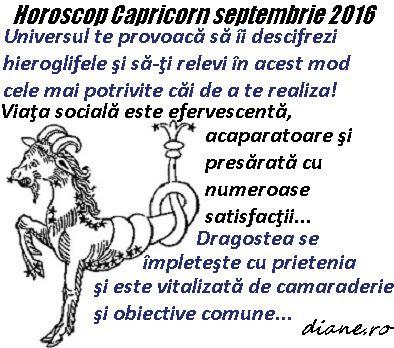 diane.ro: Horoscop Capricorn septembrie 2016