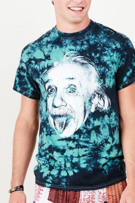 8bd436cbc8a9 Green and Black Tie Dye Einstein T-shirt - Earthbound Trading Co. -  Earthbound Trading Co.