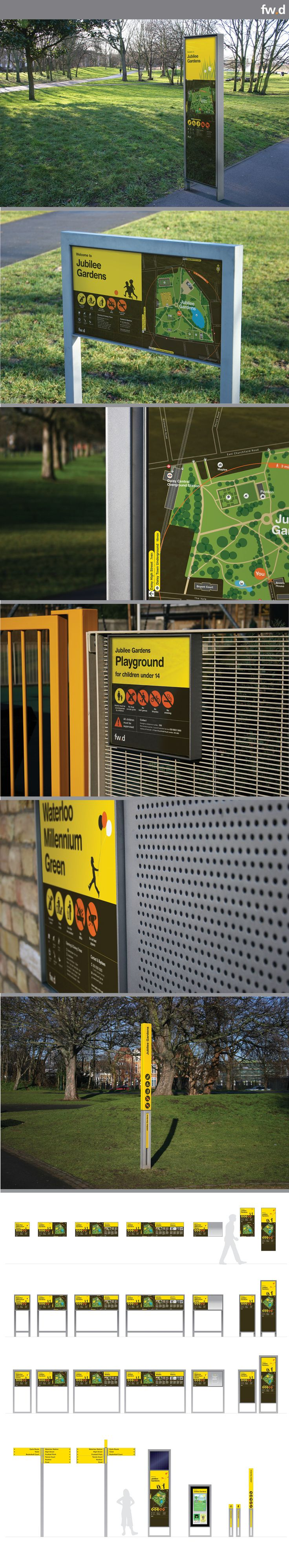 Daisy by fwdesign.  A modular wayfinding sign system for parks.  http://www.fwd-product.com/
