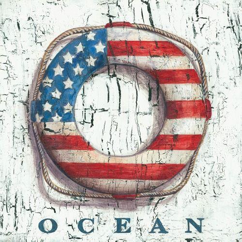 Nautical Americana Ocean Art: http://www.completely-coastal.com/2016/06/americana-decor-nautical-coastal-theme.html