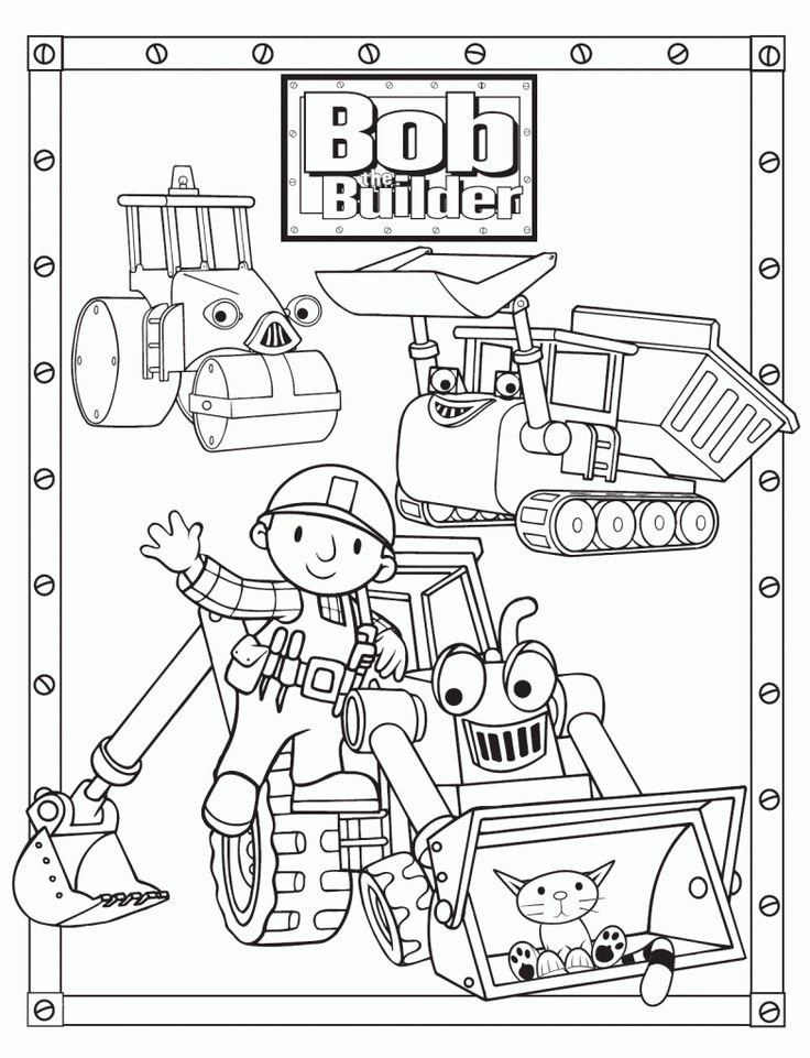 Bob The Builder Coloring Pages Pictures