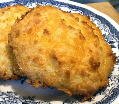Caveman CHEDDAR BISCUITS  4 eggs  1/4 cup butter, melted  1/4 teaspoon salt  1/2 teaspoon garlic powder  1/3 cup coconut flour, sifted, 1 1/4 ounces  1/4 teaspoon baking powder  4 ounces sharp cheddar cheese, shredded