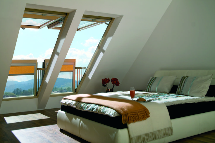 il buongiorno si vede dal mattino #bedroom #windows #light #home #attic #interiordesign www.fakro.it