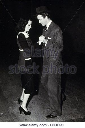 1941, Film Title: COME LIVE WITH ME, Director: CLARENCE BROWN, Studio: MGM, Pictured: CLARENCE BROWN, DANCING, HEDY - Stock Photo