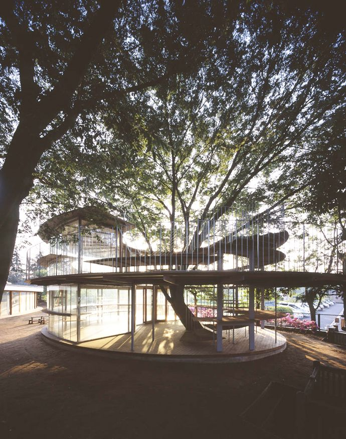 Ring Around a Tree by Tezuka Architects | http://www.designrulz.com/design/2013/04/ring-around-a-tree-bytezuka-architects/