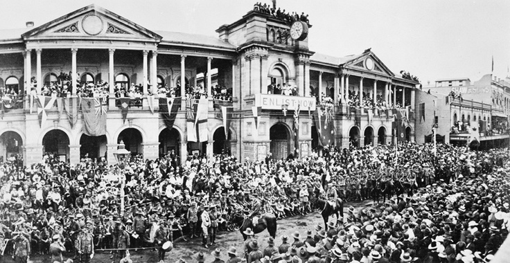 Anzacs in the Archives – first anniversary of the landing of Australian and NZ troops on Gallipoli Peninsula, Anzac Day, Brisbane, 1916. NAA: J2879, QTH173. The National Archives holds many photographs in its collection depicting ANZAC Day commemoration events. You can see more photographs of how ANZAC Day has been commemorated over the years in this Flickr album: http://www.flickr.com/photos/national-archives-of-australia/sets/72157626405384305/