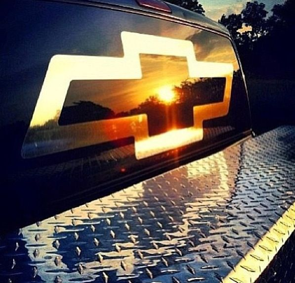 Gotta love chevy and a pretty sunset