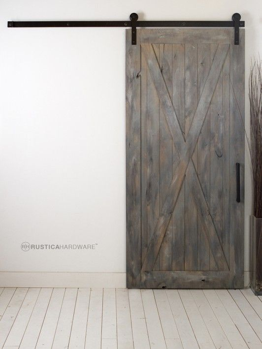 Full x barn door http rusticahardwarecom from loft for Barnwood pocket door