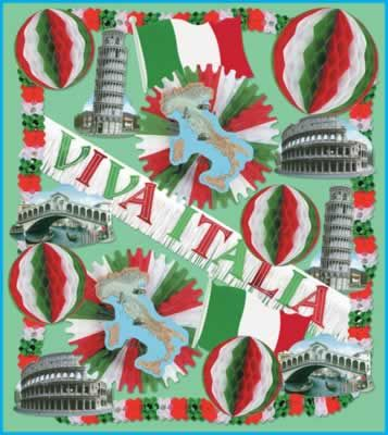 Italian Party Decorating Kit - Webhats.com 72