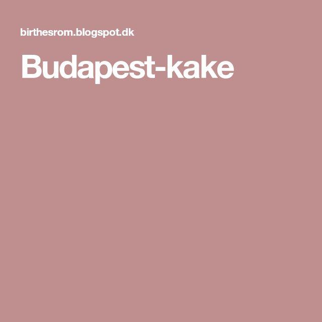 Budapest-kake