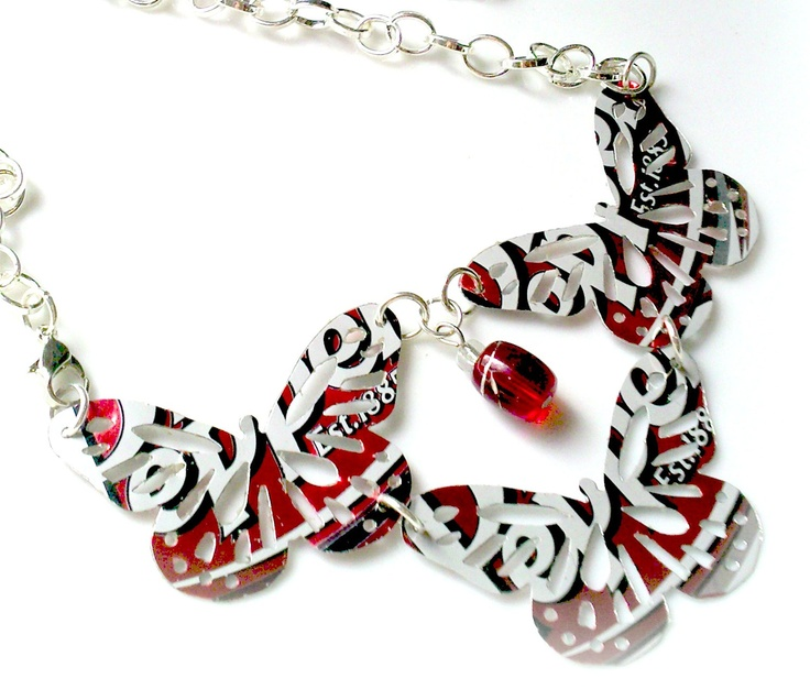 Teen Tween Girls Jewelry Soda Can Butterfly Necklace  - Dr Pepper - Teen Gift - Double Sided. $15.00, via Etsy.