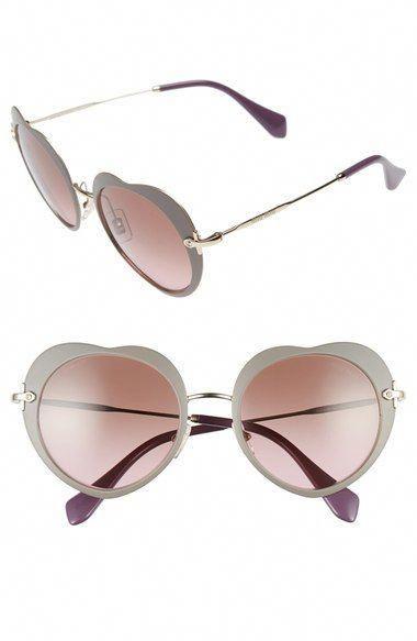 6d78879a3180 MIU MIU 52mm Round Sunglasses.  miumiu