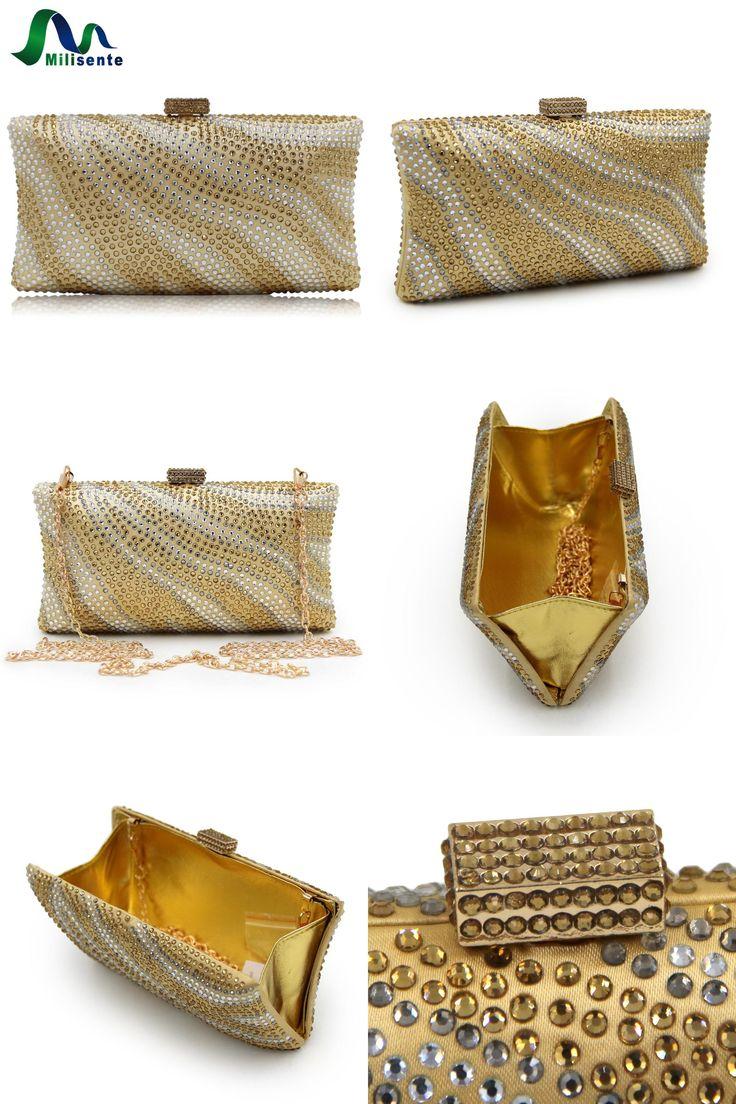 [Visit to Buy] Milisente Brand Women Evening Bags Diamante Crystal Clutch Bag River Pattern Wedding Party Purse Royal Blue Crossbody Handbags #Advertisement