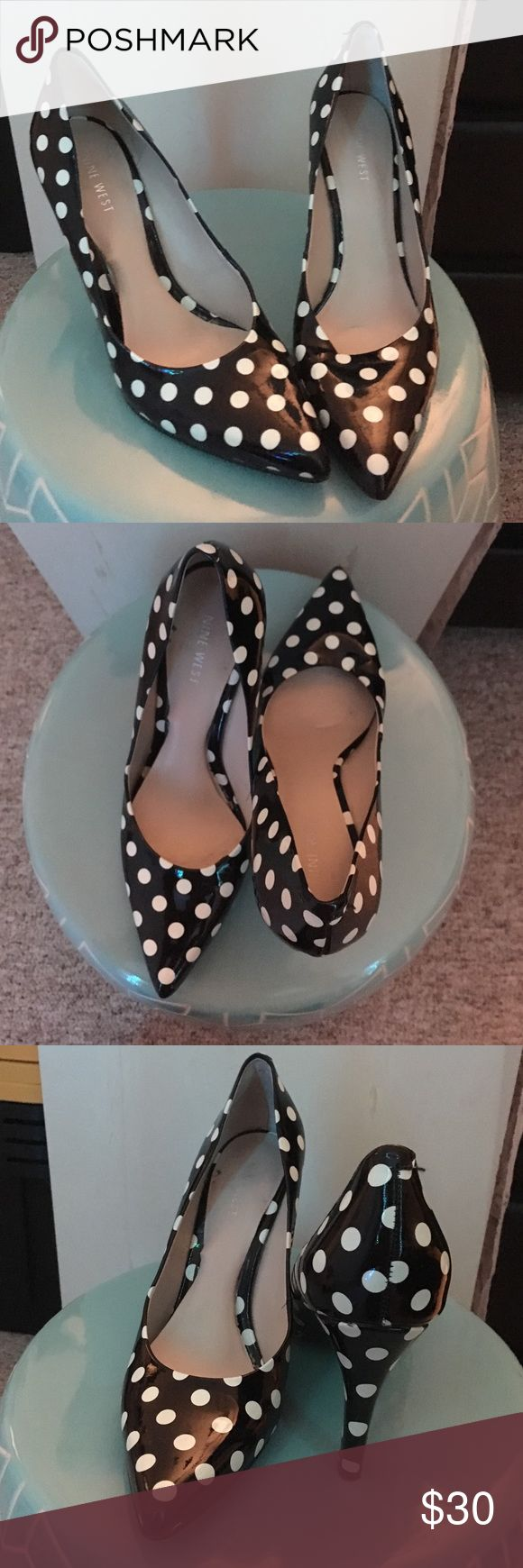 Polka dot Nine West pumps Re-posh. Worn once by me. Very cute and comfortable. Nine West Shoes Heels