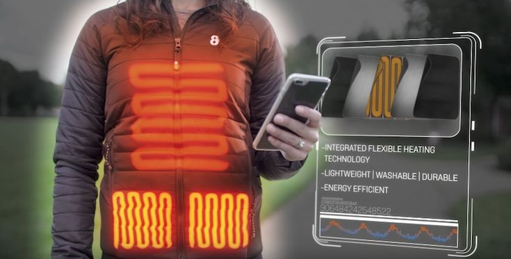 8K Flexwarm: The Heated Jacket You Can Control from Your Phone