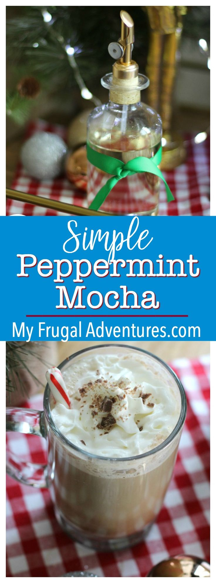 Simple DIY Peppermint Mocha Recipe - keep this peppermint syrup on hand for coffees or hot chocolate!