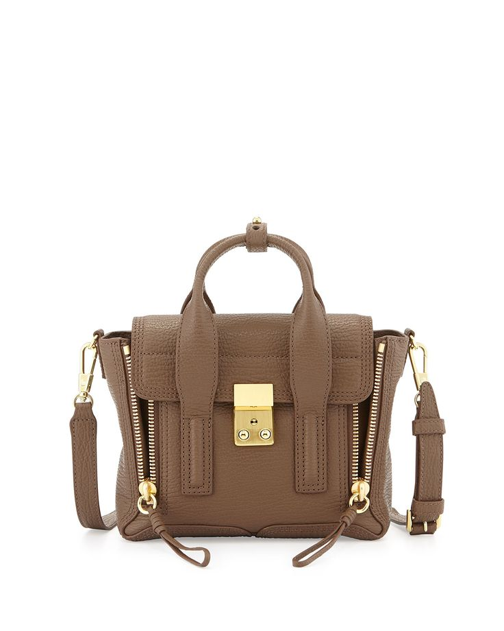 3.1 Phillip Lim Pashli Mini Leather Satchel, Taupe
