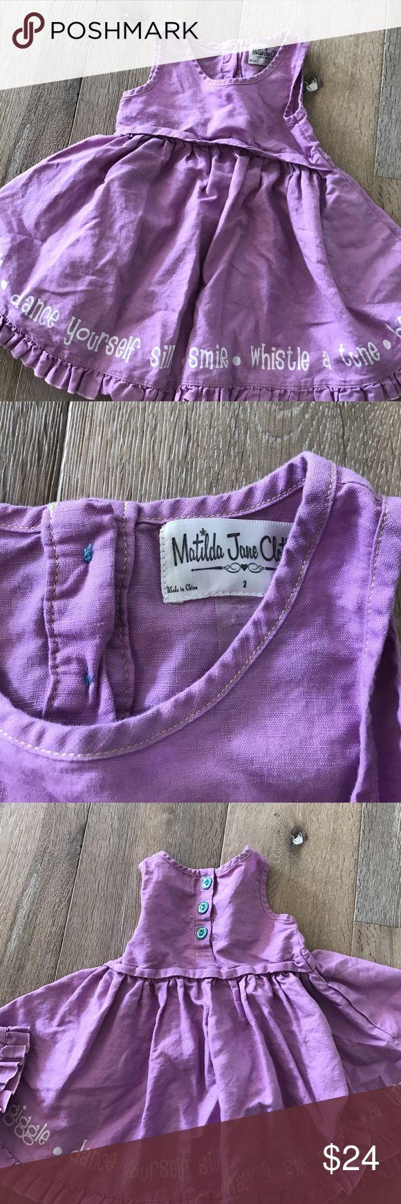 Matilda Jane dress Linen lavender whimsical dress Matilda Jane Dresses Casual