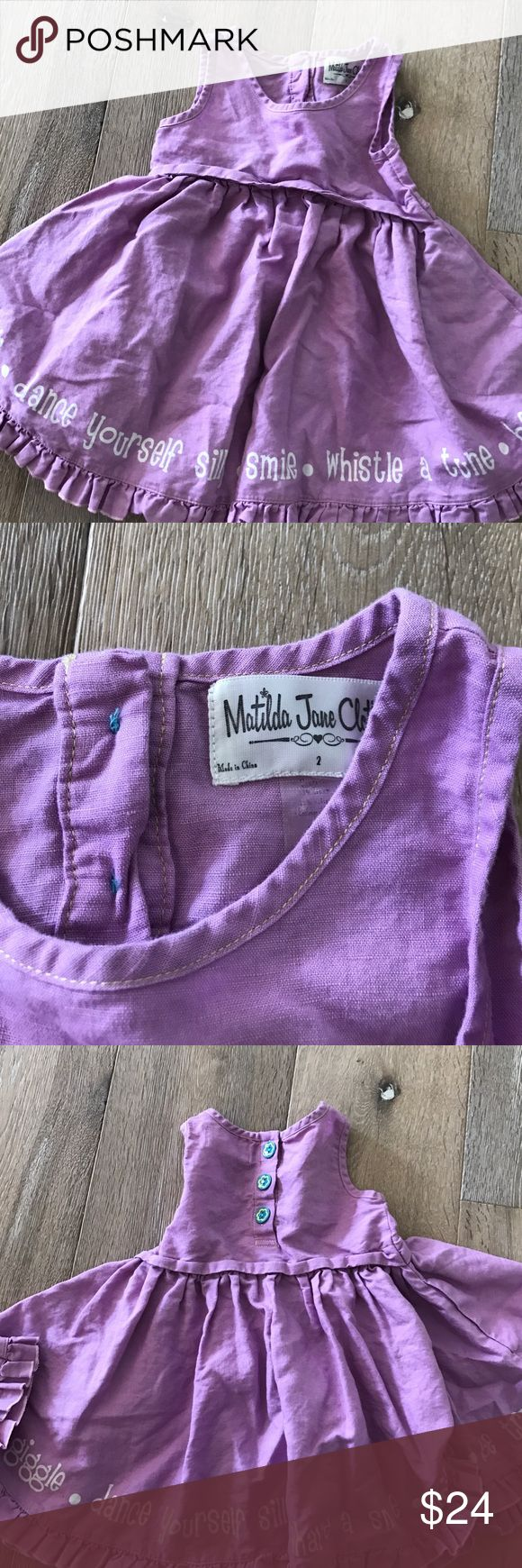 Matilda Jane dress Linen lavender whimsical dress Matilda Jane Dresses Casual