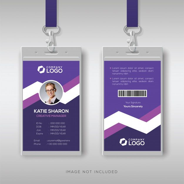 Modele De Carte D Identite Pourpre Id Card Template Identity Card Design Employees Card