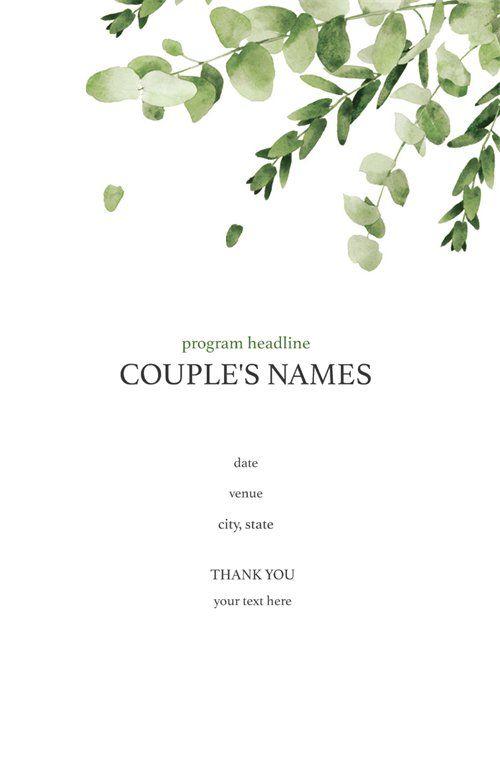Vistaprint Wedding Programs.Wedding Programs Templates Designs Page 5 Vistaprint Weddings