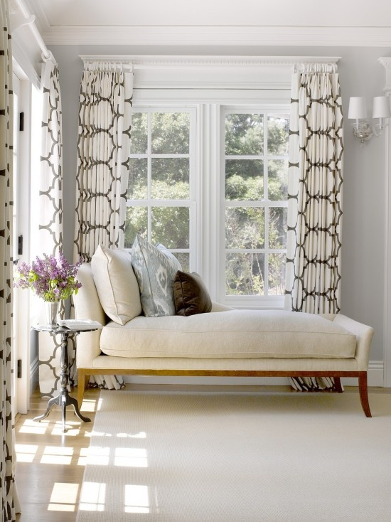 bold geo panels + pale furnishings