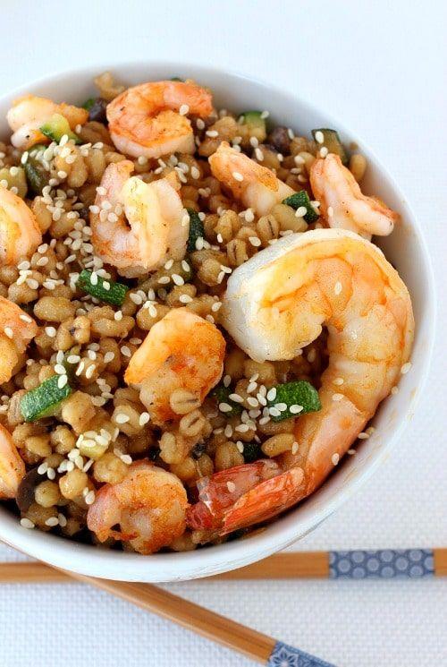 Asian Shrimp Barley Bowl - Mantitlement