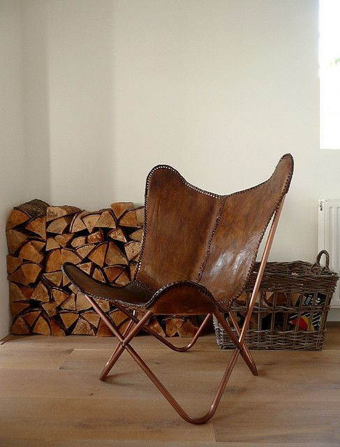 leather butterfly chair by the style files, via Flickr