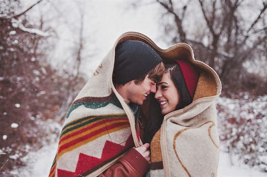 Snowy Winter Engagement by Sara K Byrne Photography