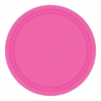 Solid Tableware, Hot Pink Dinner Plates, Party Supplies