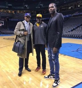 Kevin Durant After OKC Thunder Game Wears Amiri Jeans And Jordan Sneakers | UpscaleHype