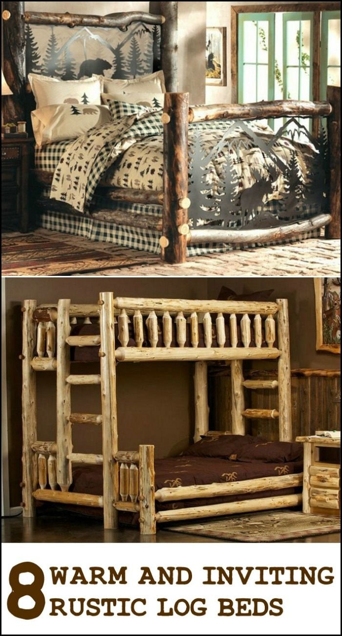 Which of the rustic log beds below is your dream bed?