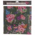 Papier Cadeau Emeraude - Papillon Chouko avec Etiquettes