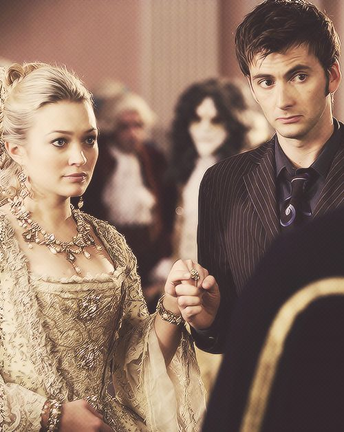 Madame de Pompadour and the Doctor. Just found out the other day, that these two actors dated. Kinda had to rewatch the episode after that little tid-bit fell in my lap. <<-- AccaAwkward