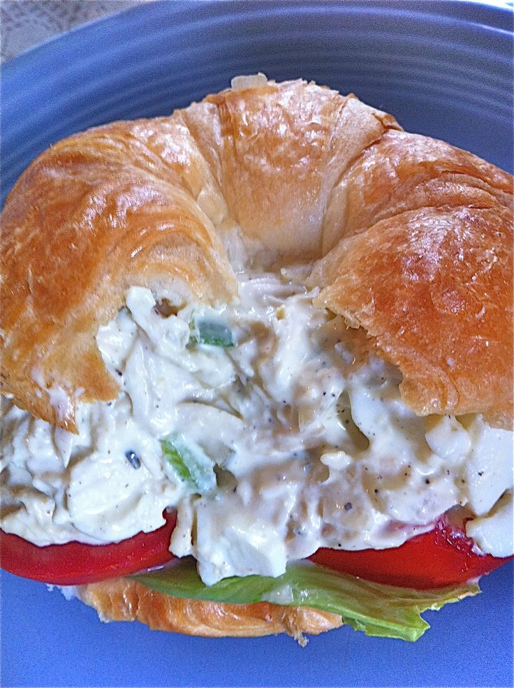 southern chicken salad sandwich Added grapes and more mayo