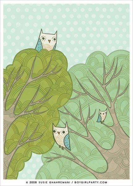 owls in trees