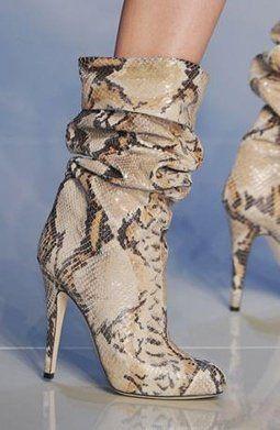Sexy snakeskin boots
