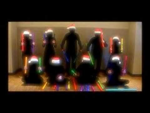 Ninja Christmas boomwhackers.  This is awesome!  I want to do this with my music teacher friends!!  ;-)