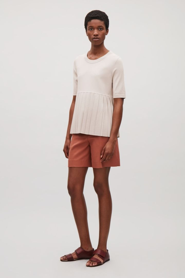 COS | Top with pleated hem