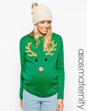 ASOS Maternity Christmas Jumper | #matternityclothes #dressingthebump #holidaybump