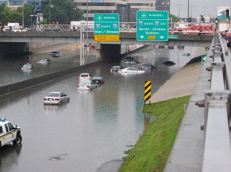 1987 Decarie flooded!