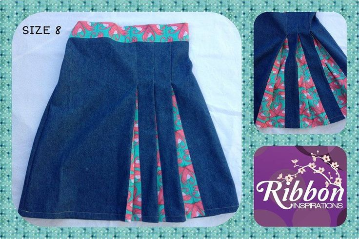 Handmade by Kate from Ribbon Inspirations  Size 8 Origami pleated denim skirt